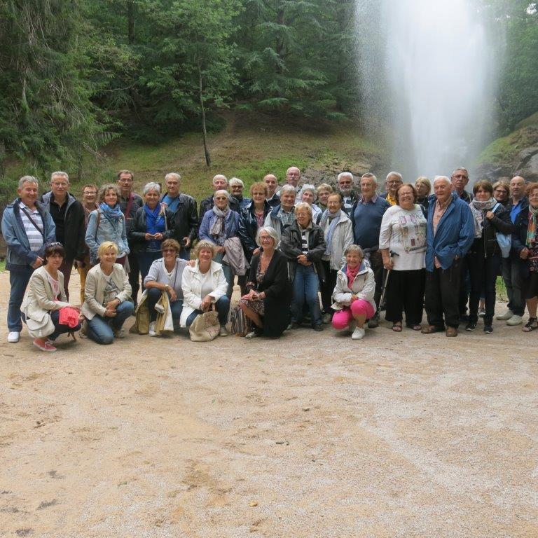 Le groupe à St Férréol - Voyage de fin d'année 2017